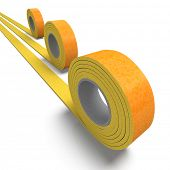3D rendering of a roll of insulation tape