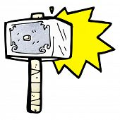 stock photo of thor  - cartoon hammer of thor - JPG