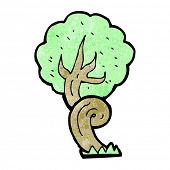 stock photo of twisty  - cartoon twisty tree - JPG