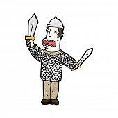 Постер, плакат: мультфильм средневековых солдат