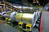 pic of shipbuilding  - rolls of steel sheet inside of plant - JPG