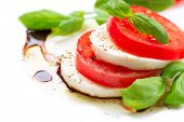 stock photo of gourmet food  - Caprese Salad - JPG