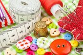 stock photo of measurement  - Sewing items - JPG