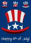 picture of uncle  - Patriotic Uncle Sam hat set in vector format - JPG
