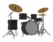 picture of drum-kit  - Drums isolated - JPG