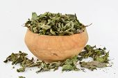 Mint In Wooden Bowl