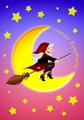 stock photo of epiphany  - an illustration of Epiphany with broom for Christmas - JPG