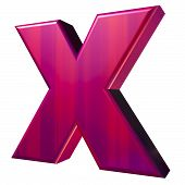 X Symbol In Dusky Red And Purple