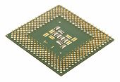 stock photo of microprocessor  - Macro of microprocessor for computer shallow DOF - JPG