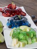 pic of jello  - Portions of mixed Jello  - JPG