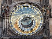 old astronomical clock in Prague, Czech Republic, Europe
