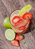 Fresh Made Strawberry Caipirinha
