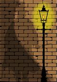 picture of ripper  - The shadow of Jack the Ripper on an old Victorian wall - JPG