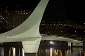 stock photo of calatrava  - Woman Bridge on Puerto Madero Buenos Aires Argentina - JPG
