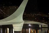 picture of calatrava  - Woman Bridge on Puerto Madero Buenos Aires Argentina - JPG
