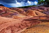 stock photo of chamarel  - The most famous tourist place of Mauritius  - JPG
