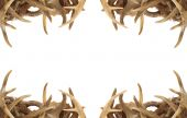 stock photo of deer head  - A background  - JPG