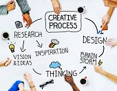 stock photo of creativity  - Business People and Creativity Concept  - JPG