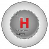 image of hydrogen  - hydrogen button - JPG