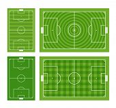 picture of offside  - Different green football fields set - JPG