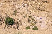 stock photo of jericho  - Saint George Monastery Wadi Qelt Judean Desert Israel  - JPG