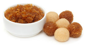 stock photo of laddu  - Traditional coconut laddu of Southeast Asia over white background - JPG