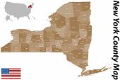 pic of auburn  - A large and detailed map of the State of New York with all counties and main cities - JPG