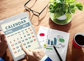 pic of weekdays  - Calendar Contemporary Digital Device Concepts - JPG
