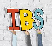 pic of colitis  - Group of Hands Holding IBS Letter - JPG