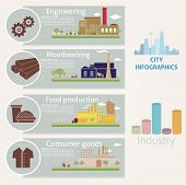 stock photo of manufacturing  - Infographics on the theme  - JPG