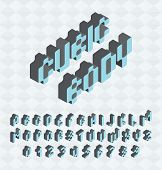 stock photo of verbs  - Cubic font - JPG
