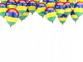 stock photo of mauritius  - Balloon frame with flag of mauritius isolated on white - JPG