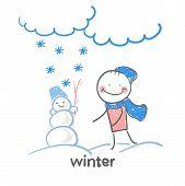stock photo of animated cartoon  - winter - JPG