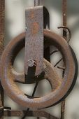 stock photo of pulley  - antique objects  - JPG