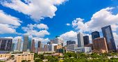 picture of texas  - Houston skyline from south in Texas US USA - JPG