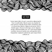 foto of motif  - Abstract vector black and white design with waves - JPG