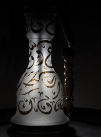 picture of shisha  - Shisha with black background and photo studio lightning - JPG