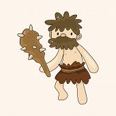 picture of caveman  - Caveman Theme Elements - JPG