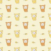 picture of fidget  - Seamless pattern with baby in overalls vector background - JPG