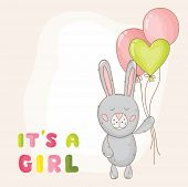 picture of cute baby  - Cute Baby Bunny Background  - JPG