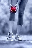 stock photo of knee  - Knee injury  - JPG