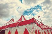 stock photo of circus tent  - Vintage circus tent - JPG