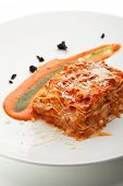 stock photo of lasagna  - Italian Cuisine  - JPG