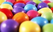 picture of laying eggs  - Illustration of easter mini eggs laying on a slate table created using median noise reduction - JPG
