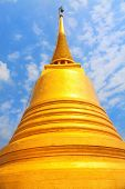 picture of buddhist  - Wat Saket is famous Buddhist temple in Bangkok Thailand - JPG