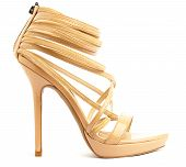 pic of high heel shoes  - woman shoe isolated on a white background - JPG