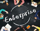 stock photo of enterprise  - Enterprise Company Corporation Business Project Concept - JPG