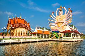 picture of shiva  - Shiva statue on Koh Samui island - JPG