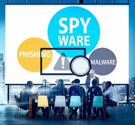 picture of spyware  - Spyware Hacking Phishing Malware Virus Concept - JPG