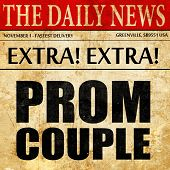 prom couple, newspaper article text poster